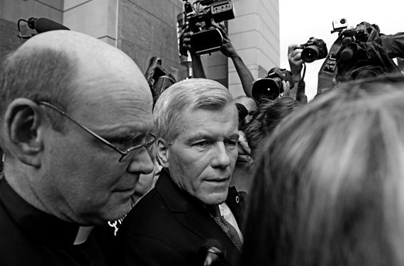 Former Gov. Bob McDonnell leaves the federal courthouse in Richmond after being convicted of corruption-related counts in September 2014. - SCOTT ELMQUIST / FILE
