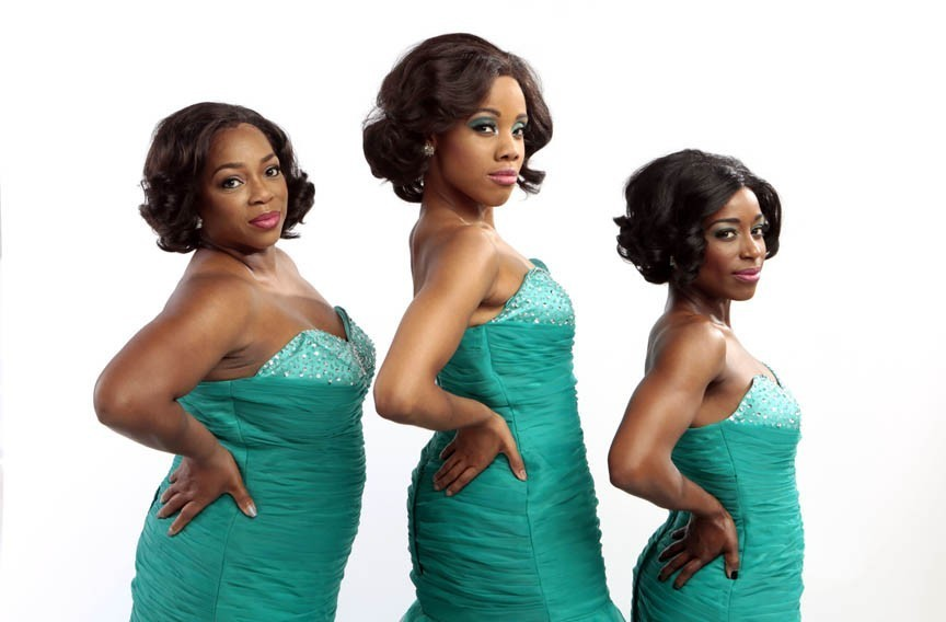 """Disirée Roots, Zuri Washington and Felicia Curry led the cast of Virginia Rep's """"Dreamgirls,"""" which received seven Artsies earlier tonight. - JAY PAUL"""