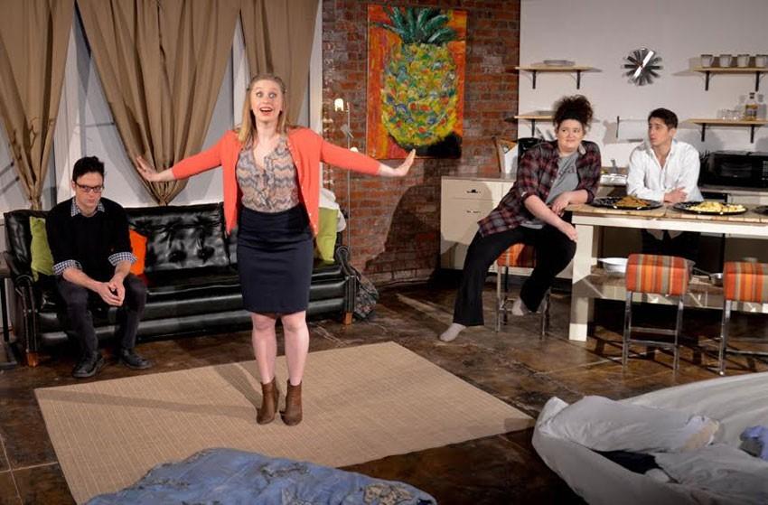 "The Best Ensemble Artsie went to the cast of TheatreLab's ""Bad Jews"" -- Evan Nasteff, Catherine Carol Walker, Kelsey Cordrey and Ethan Malamud. - BIRGITTE DODD TINGLEY"