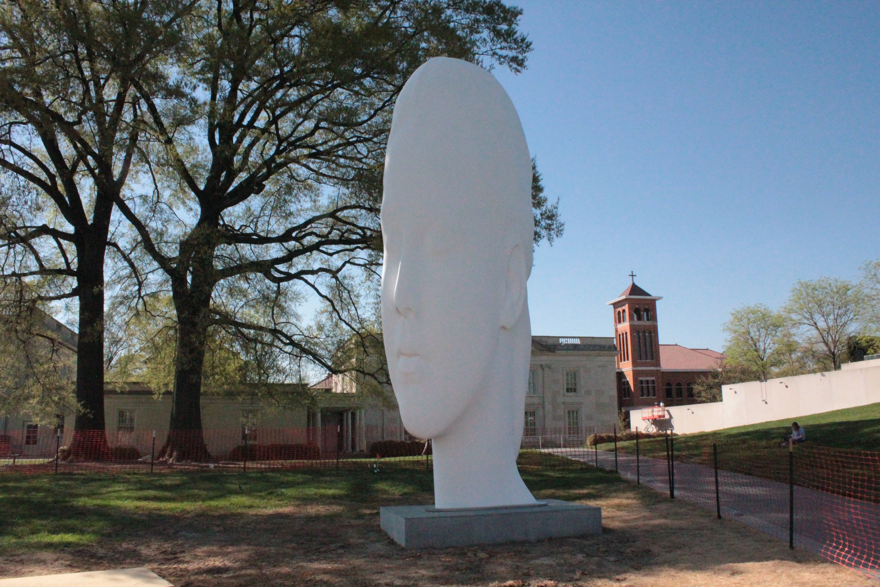 """""""Chloe"""" by Catalan artist Jaume Plensa. The work represents the second piece in the VMFA's outdoor commissioning strategy."""