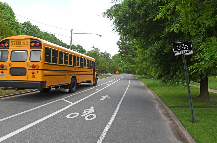 Richmond has about 25 miles of bike lanes, like this one along Brookland Parkway. The city wants to double that amount this year. - SCOTT ELMQUIST