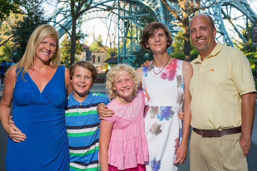 "Kate, Forde, Caroline, Piper and Travis Hall of Henrico County. ""Our oldest came out to us as transgender in 2015,"" says Kate Hall, at left. ""Now, we have two daughters and a son, but we're essentially the same family — except that maybe with our hearts opened a bit wider."""