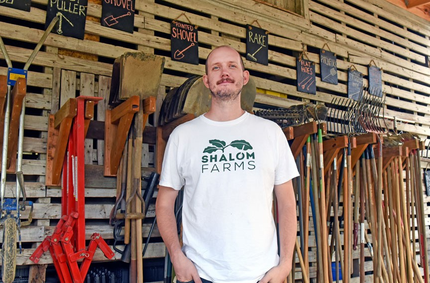 Dominic Barrett, Shalom Farms' executive director, says the nonprofit's newest farm space offers better amenities to help meet their needs in production and volunteering. - SCOTT ELMQUIST