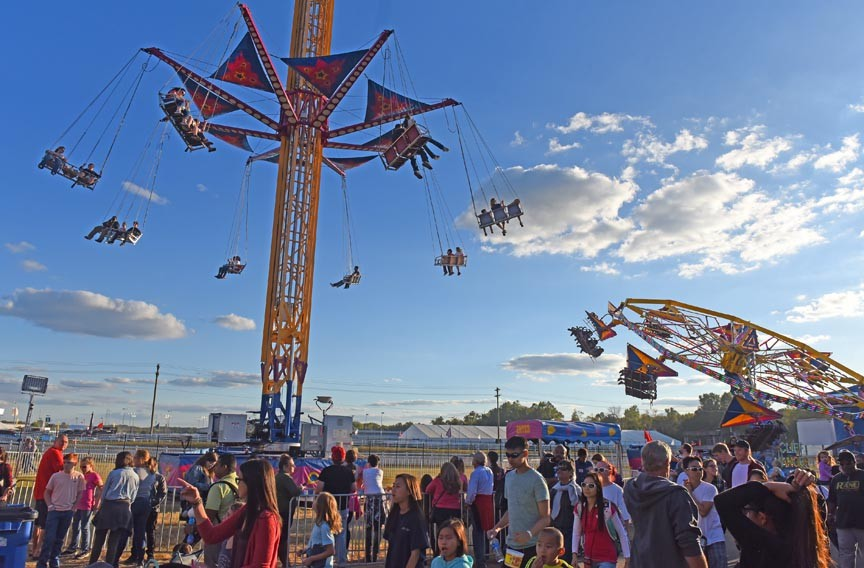 Cool temperatures on Sunday afternoon brought big crowds to the midway. - SCOTT ELMQUIST