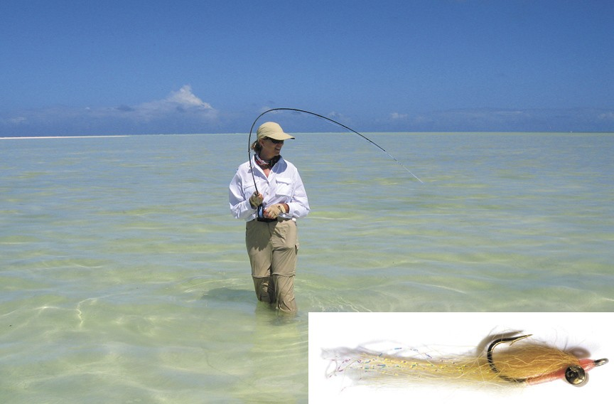 Fishing runs in the family for Pamela Kiecker Royall. But she picked up her passion for fly fishing from her husband, Bill Royall. She chose the Bonefish Clouser as her favorite fly. - AMERICA'S FAVORITE FLIES