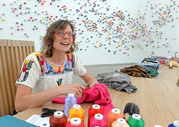 The Mending Project at ICA brings people together over stitches and art