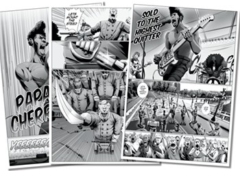 """Papa Cherry,"" a graphic novel set in Richmond features black rockers, slave zombies and Confederate re-enactors on Segways"