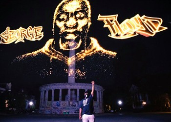 Hologram of George Floyd Unveiled in Richmond
