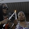 Scenes from the Vigil for Keith Evans