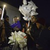 Scenes from the Vigil for Jayquan Powell