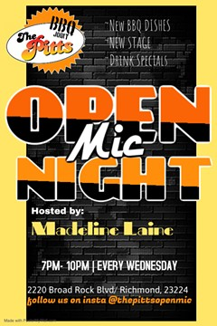 OPEN MIC EVERY WEDNESDAY - Uploaded by Lisa Ann Peters