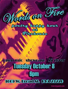Words on Fire Poetry Happy Hour at Firehouse October 2019 - Uploaded by Joanna Lee