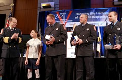 First responders being honored for their service. - Uploaded by Retail Merchants