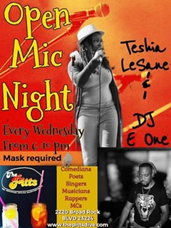 Open Mic Night with Teshia LeSane & DJ E ONE - Uploaded by Lisa Ann Peters