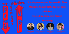 Comedy Flyer featuring show information and headshots of performers - Uploaded by Mary Jane French