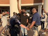 Peaceful Protesters March In Chesterfield County