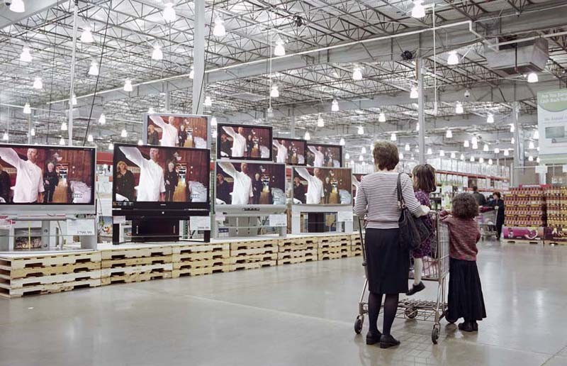 """""""Untitled,"""" a photograph in Brian Ulrich's """"Copia"""" exhibit, asks viewers to be self-critical about their actions as consumers."""