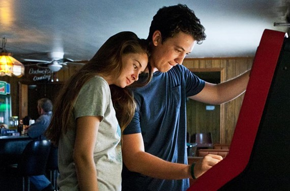 """Up-and-comer Shailene Woodley (""""The Descendents"""") plays Aimee and Miles Teller is the popular party boy Sutter Keeley in """"The Spectacular Now."""" - A24"""