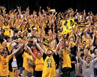 VCU fans in San Antonio cheer on the resilient Rams during Friday's Sweet 16 game against Florida State, eking out a 1-point victory in overtime.