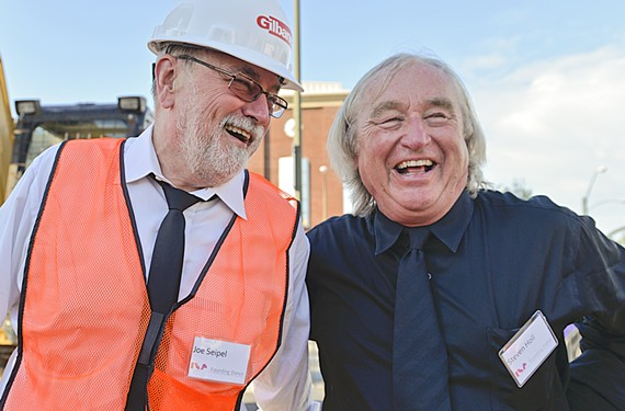 VCU School of the Arts dean Joe Seipel, left, with Steven Holl, architect of the university's Institute for Contemporary Art. - ASH DANIEL