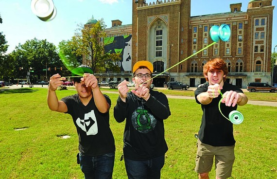 """VCU students Gee Cheung, Samm Scott and Alex Curfman competed in the National Yo-Yo Contest on Oct. 1. Scott's winning routine became a YouTube hit, drawing 110,000 views and admiring comments such as """"u r a total badass uv got some madd skillz bitchz."""" - SCOTT ELMQUIST"""