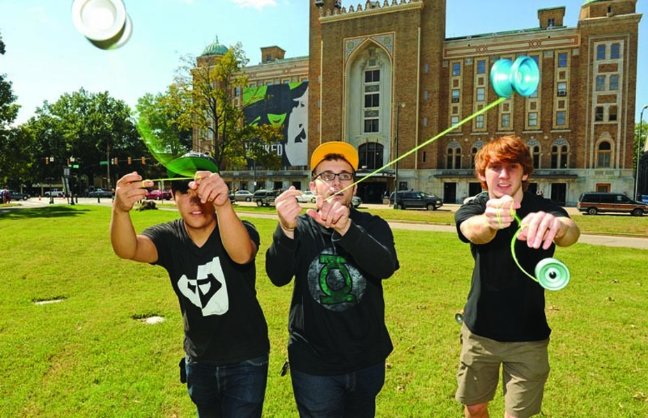 "VCU students Gee Cheung, Samm Scott and Alex Curfman competed in the National Yo-Yo Contest on Oct. 1. Scott's winning routine became a YouTube hit, drawing 110,000 views and admiring comments such as ""u r a total badass uv got some madd skillz bitchz."" - SCOTT ELMQUIST"