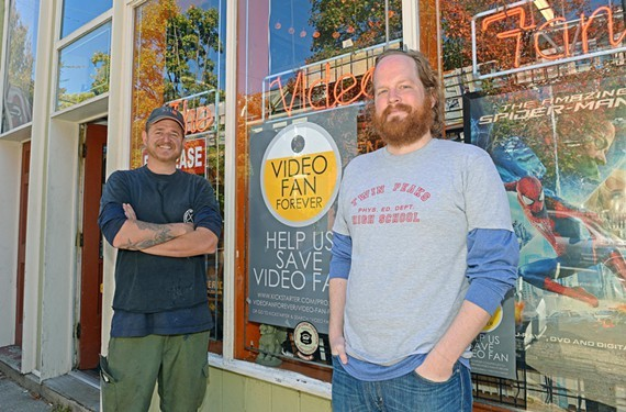 Video Fan owner Doug McDonald and manager Andrew Blossom met their $35,200 fundraising goal with 19 hours to spare.