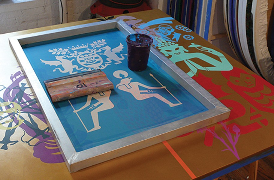 """Viewers of McGinness' """"Studio Visit"""" will be able to glimpse his screen-printing process and other aspects of his work. - VIRGINIA MUSEUM OF FINE ARTS"""