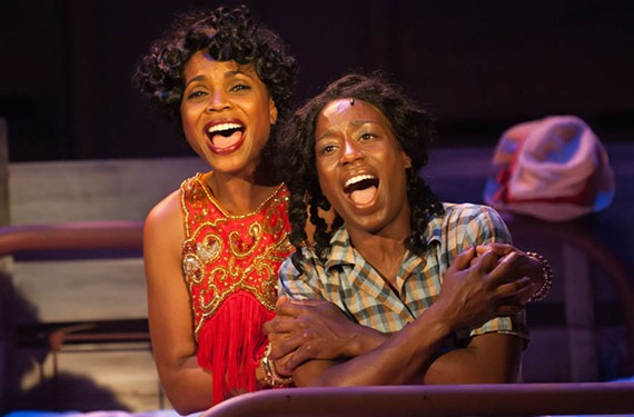 """Walk-on newcomer Carolyn Minor-Daughtry, as Shug, and Felicia Curry, as Celie, do exceptional work bringing Alice Walker's famous book to life in one of the year's most satisfying local musicals, """"The Color Purple."""""""