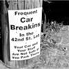 Warning on Riverside Drive