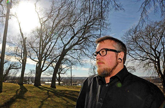 """Wes McWillen, lead organizer of last year's Transgender Day of Remembrance, says the hatred displayed during City Council's October discussion of same-sex partner benefits showed """"there are a lot of people in the city who would want to see me not live here."""" - SCOTT ELMQUIST"""