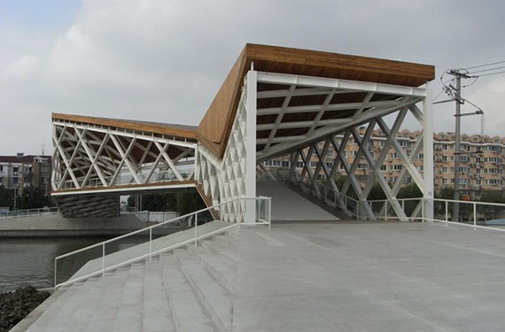 What if the new Huguenot Bridge looked like this pedestrian bridge in Shanghai, China, designed by Pedro Pablo Arroyo Alba?