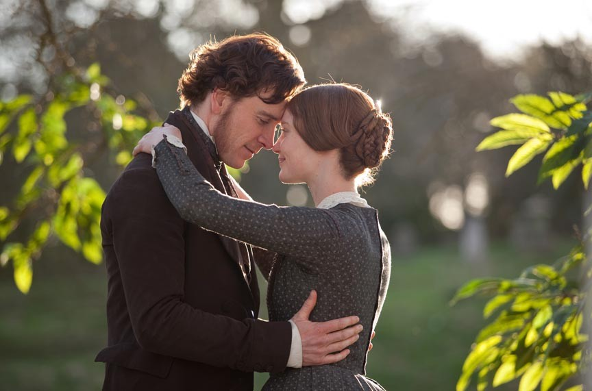"""When Rochester met Jane: Michael Fassbender and Mia Wasikowska meet cute in a lightweight adaptation of """"Jane Eyre."""" - LAURIE SPARHAM"""