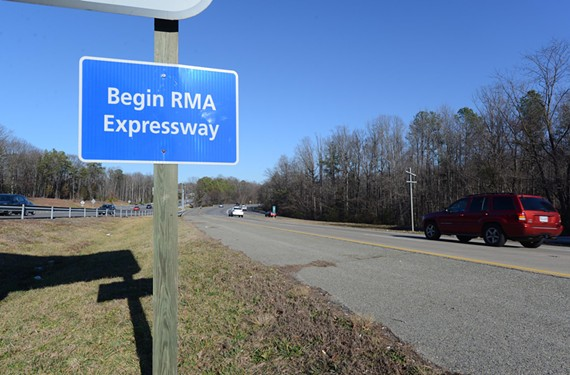 Where the state-owned Powhite Extension ends and the locally owned Powhite Parkway begins offers a stark contrast in how to manage and maintain state roads. - SCOTT ELMQUIST