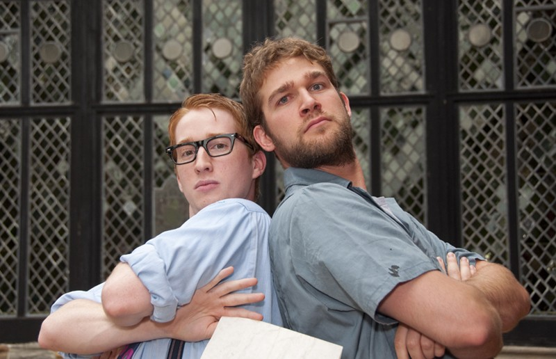 """Who put the Bard in the """"Rama Lama Ding Dong""""? Austin Seay and Jonathan Conyers co-star in Richmond Shakespeare's ambitious but flawed retelling of """"Two Gentlemen of Verona."""" - ERIC DOBBS"""