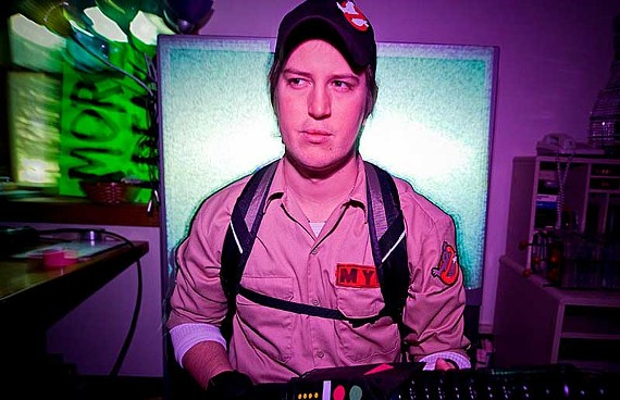 """""""Who you gonna call?"""" Monster Mash organizer Myles Shifflett is out to prove that dressing in costume isn't just a Halloween thing.  His event at the Republic brings together music, masquerade and monster-themed drinks. - ASH DANIEL"""