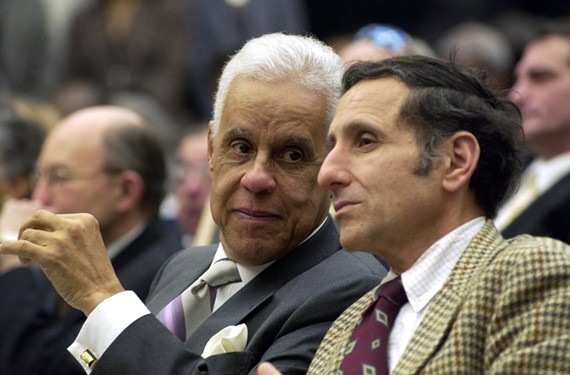 Wilder's political adviser, Paul Goldman, right, drafted proposed charter changes and led a petition drive to get them on the ballot for a citywide vote. The measure passed with 80 percent of the vote. - STEPHEN SALPUKAS