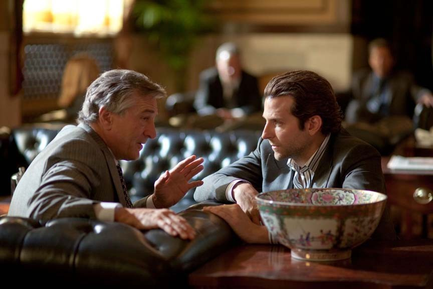 Wise guy Robert De Niro meets smart guy Bradley Cooper in Neil Burger's mediocre thriller about brain drugs and the hotshots who take them. - JOHN BAYER