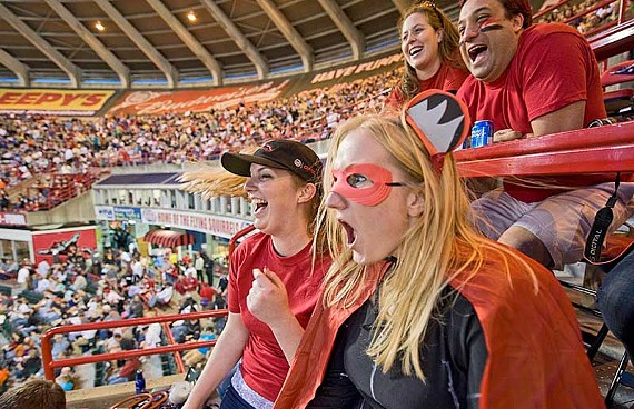 With one of the best management teams in minor league baseball, the Squirrels report an average of more than 6,600 fans at home games during the last two seasons. - ASH DANIEL