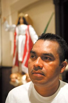 With the help of loans from family, Rufino Leon raised $3,000 to bring a replica of his community's patron saint to Richmond. - SCOTT ELMQUIST