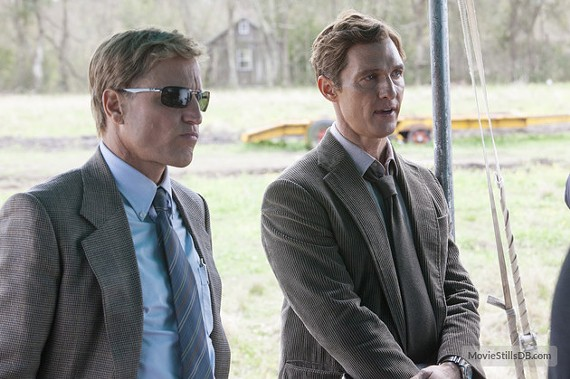 "Woody Harrelson and Matthew McConaughey play two detectives who really don't get along in HBO's dark new series, ""True Detective"" which airs at 9 p.m. on Sundays."