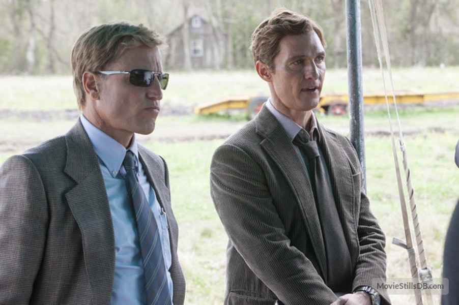 """Woody Harrelson and Matthew McConaughey play two detectives who really don't get along in HBO's dark new series, """"True Detective"""" which airs at 9 p.m. on Sundays."""