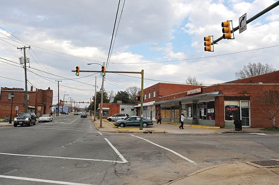 "Years after the city ""revitalized"" Fulton by tearing much of it down, the community is pushing to revive corridors such as this one at Williamsburg Road and Parker Street. - SCOTT ELMQUIST"