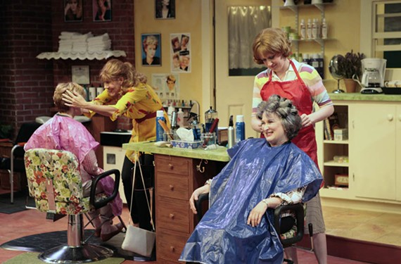 """You may remember the Dolly Parton movie version, but Virginia Rep's production of """"Steel Magnolias"""" deftly handles the mixture of comedy and drama with, clockwise from left, Aly Weeplo, Joy Williams, Maggie Roop and Jacqueline Jones. - JAY PAUL"""