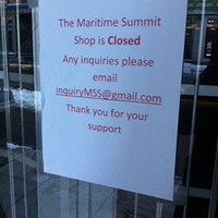 The Maritime Summit Shop is closed
