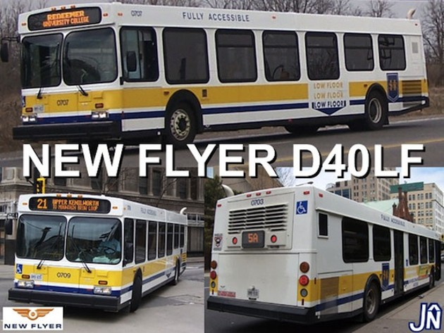 A New Flyer ad from 2004, showing off the model of two of the Metro Transit buses lost to fire Sunday night.
