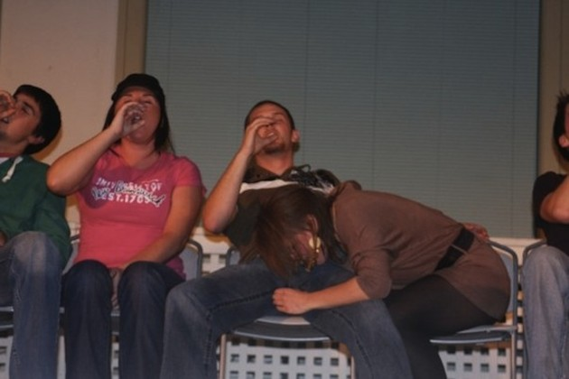 A scene from Tony Lee's show at UNB Fredericton, in 2009, from his Facebook page.