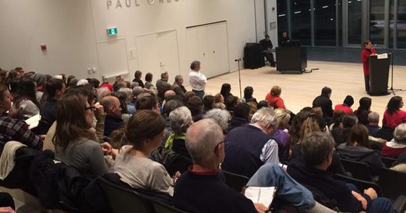 A sea of faces attend the How We Live Matters panel at the Central Library on January 8. - DARRYL LEROUX
