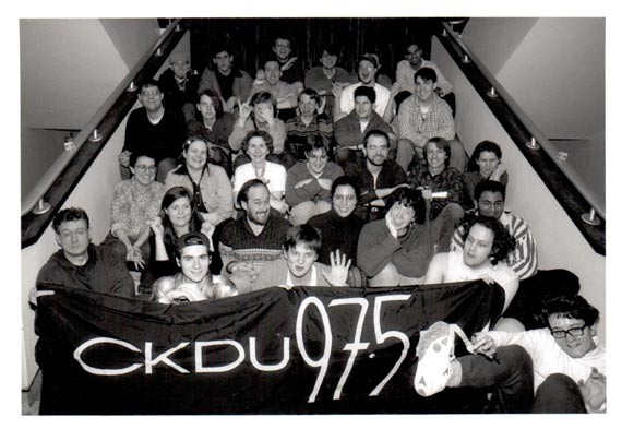 """A wayback Team CKDU in the Dal SUB, part of the """"thousands of vibrant souls"""" involved over the years."""