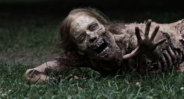 A zombie in The Walking Dead